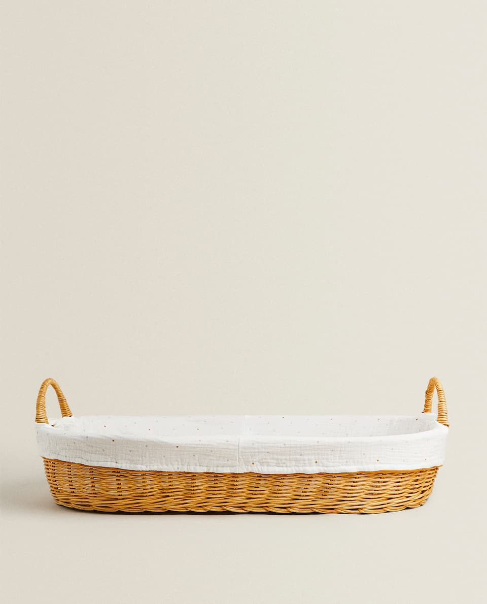 RATTAN CHANGING MAT BASKET