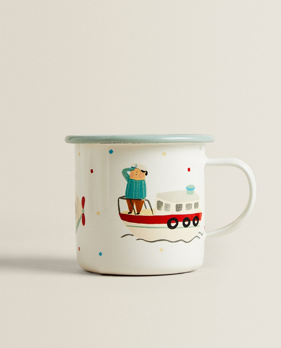 ENAMELLED ROCKET MUG