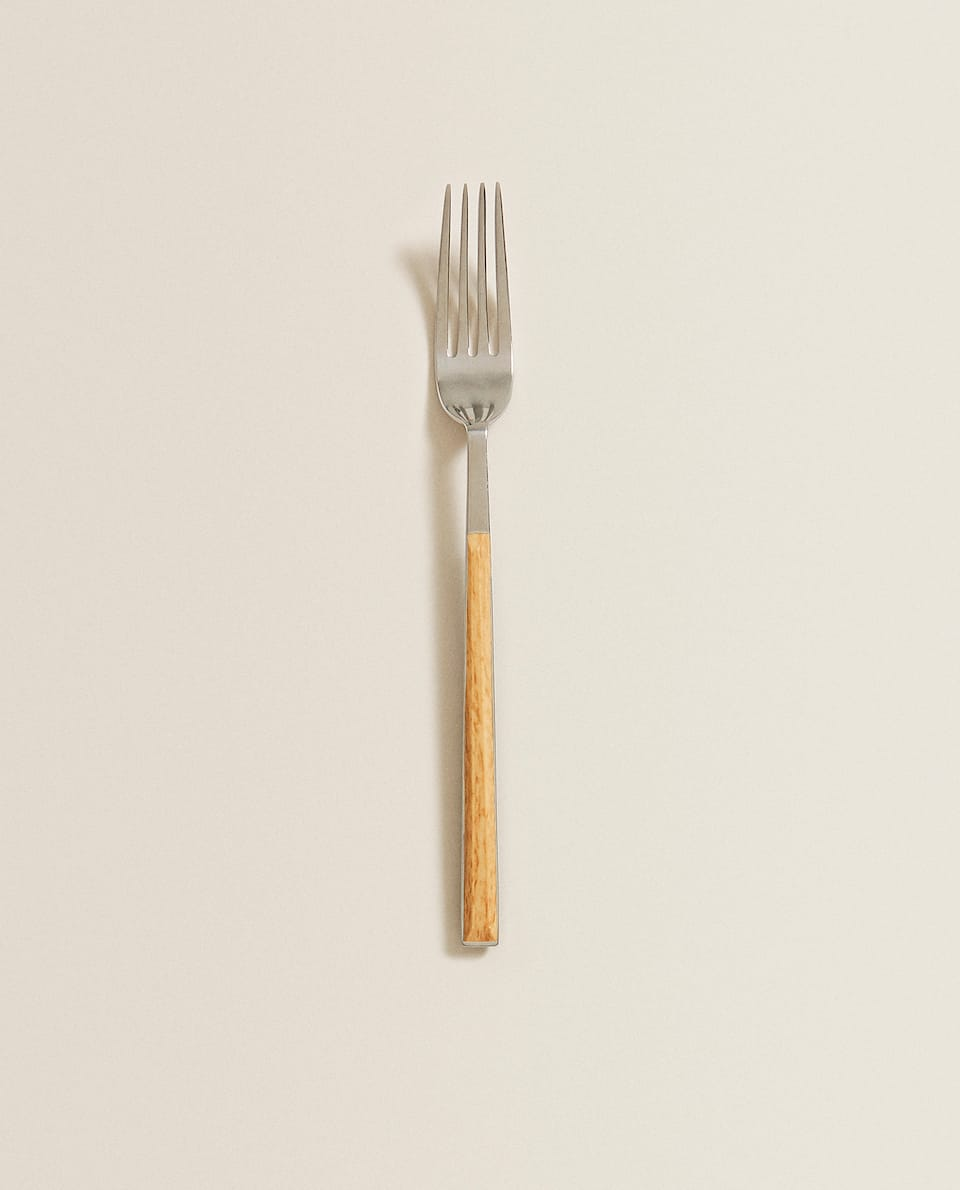 FORK WITH FAUX WOOD HANDLE
