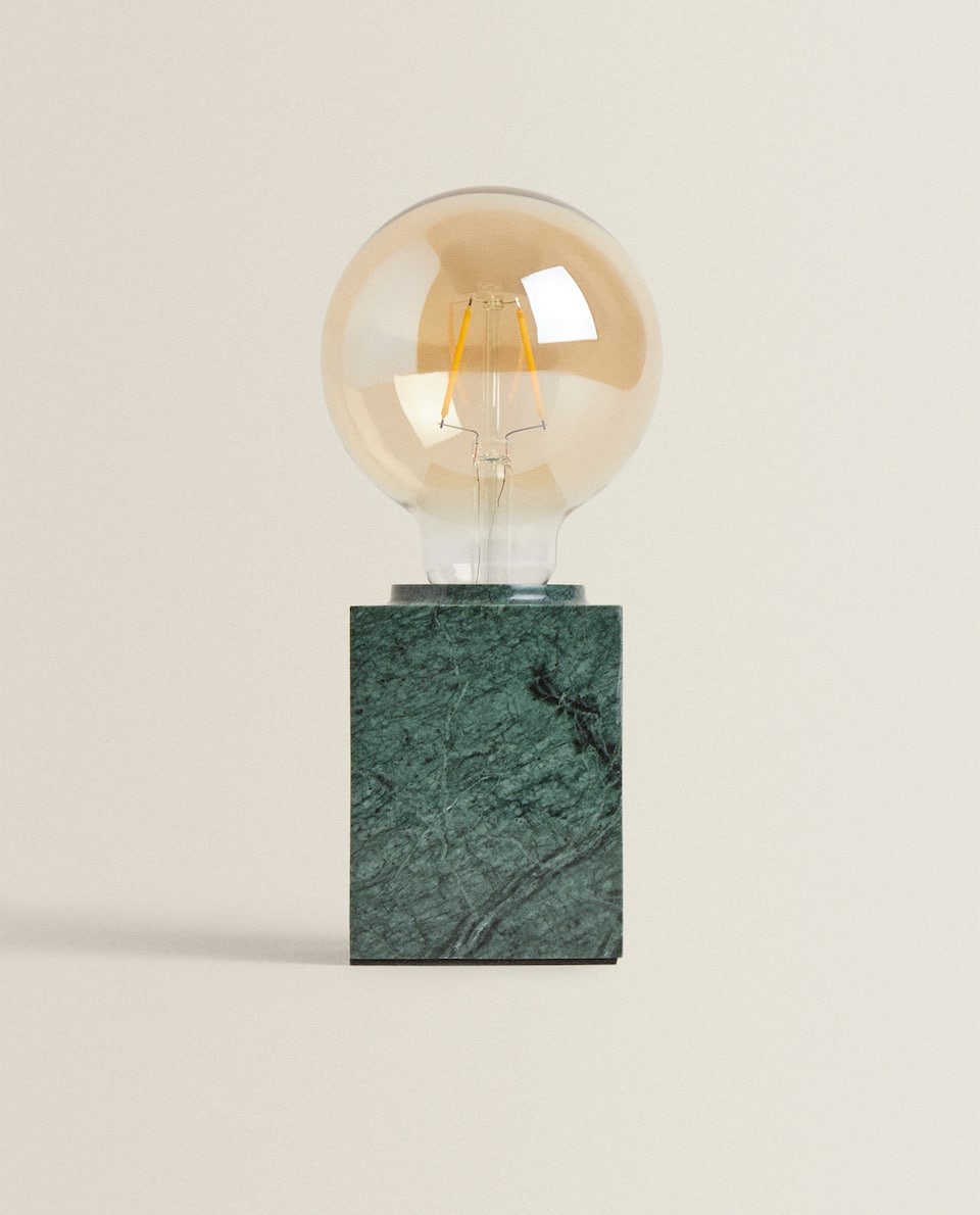 LAMP WITH SQUARE MARBLE BASE