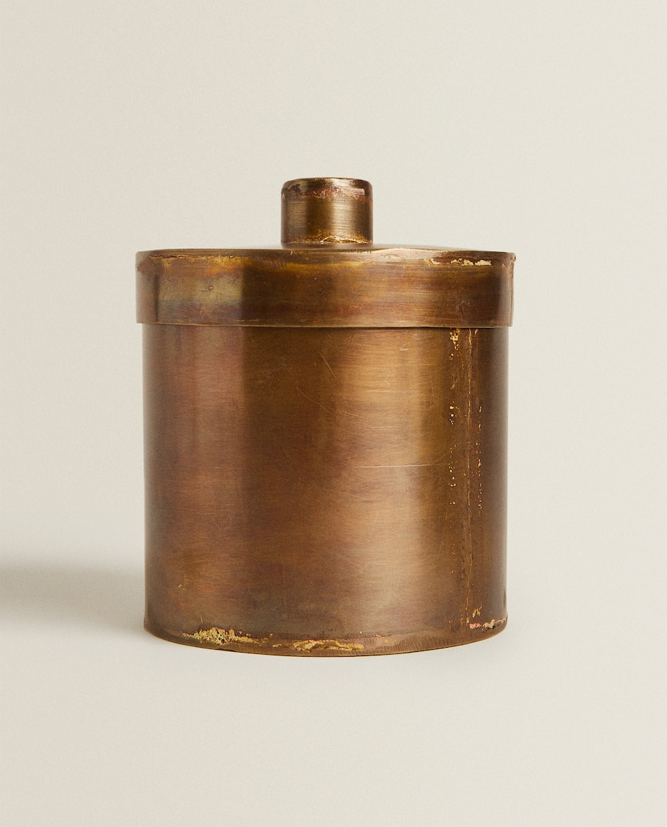 TALL BRASS BOX