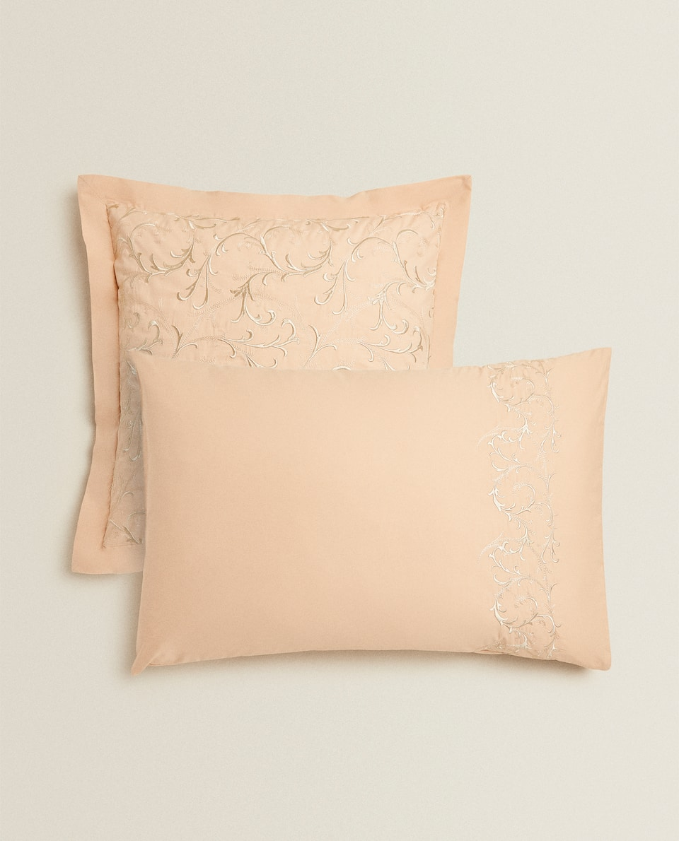 PILLOWCASE WITH DECORATIVE EMBROIDERY