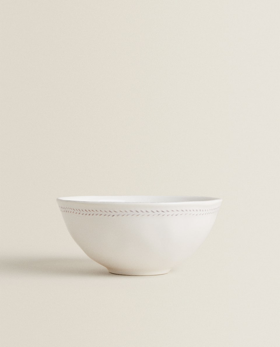 HERRINGBONE EARTHENWARE BOWL