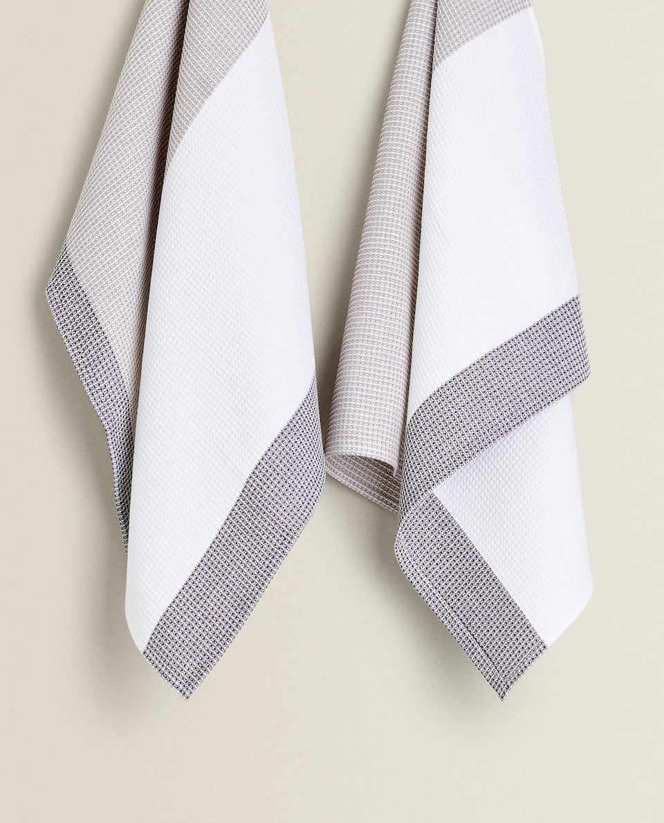 WAFFLE KNIT TEA TOWEL (PACK OF 2)