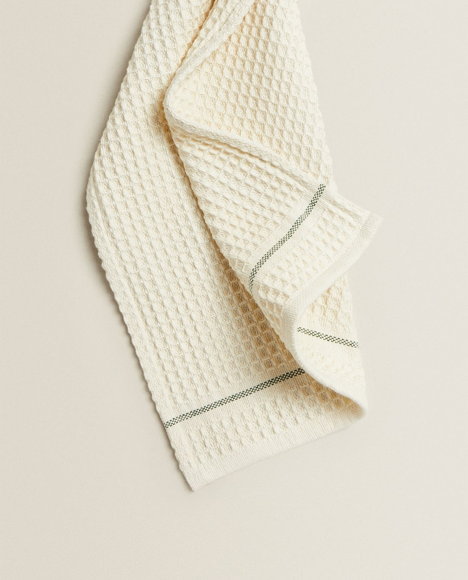 TEXTURED COTTON KITCHEN TOWEL