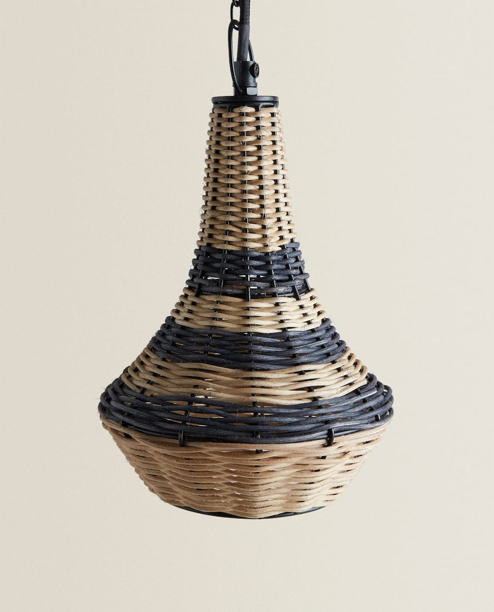 MEDIUM RATTAN CEILING LAMP