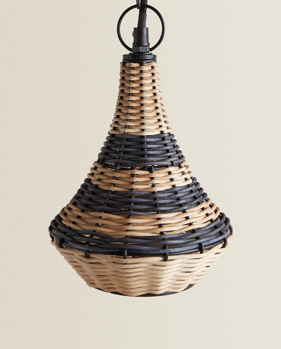 SMALL RATTAN CEILING LAMP