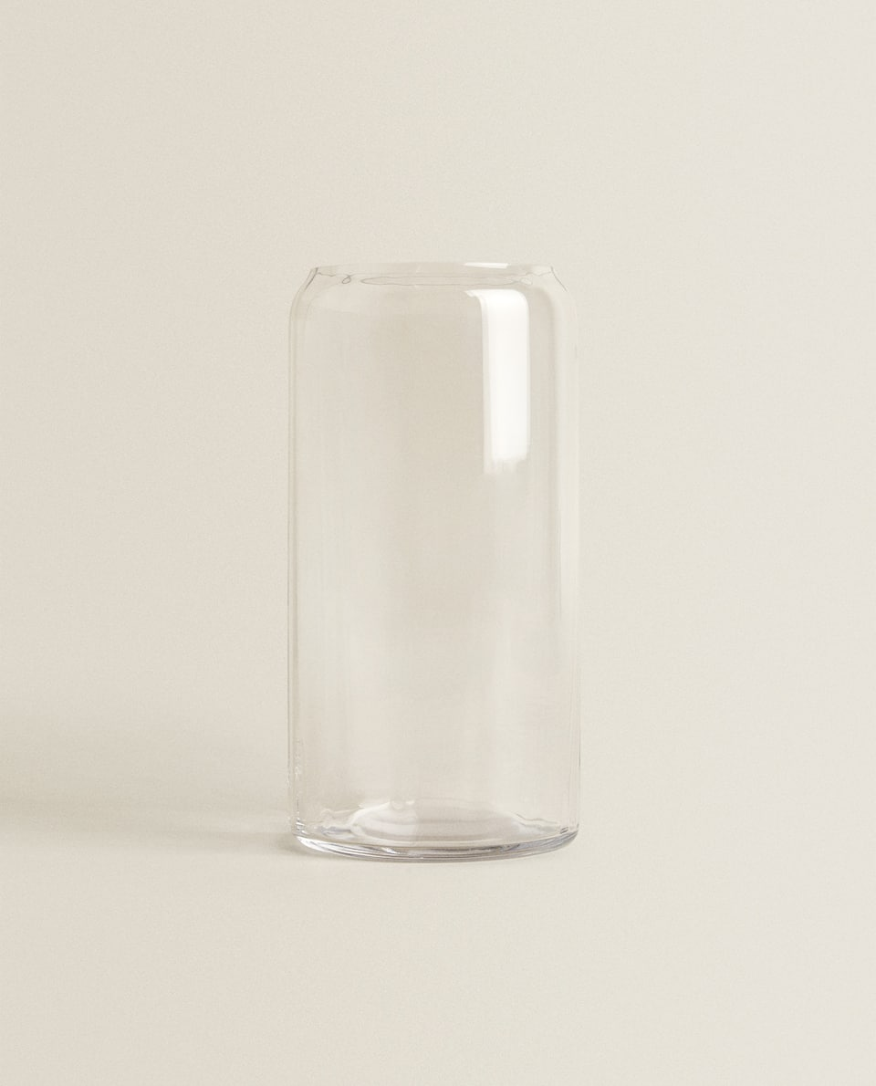 TALL CRYSTALLINE VASE