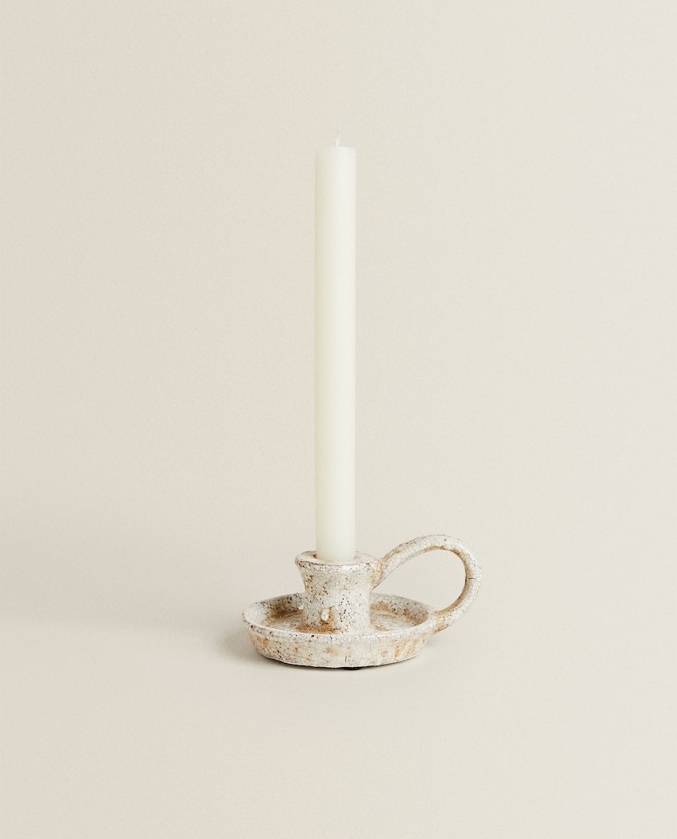 CANDLESTICK WITH HANDLE