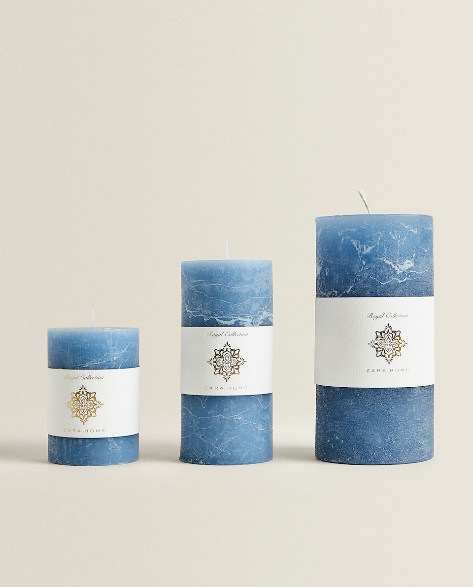 MARBLE-EFFECT CANDLE