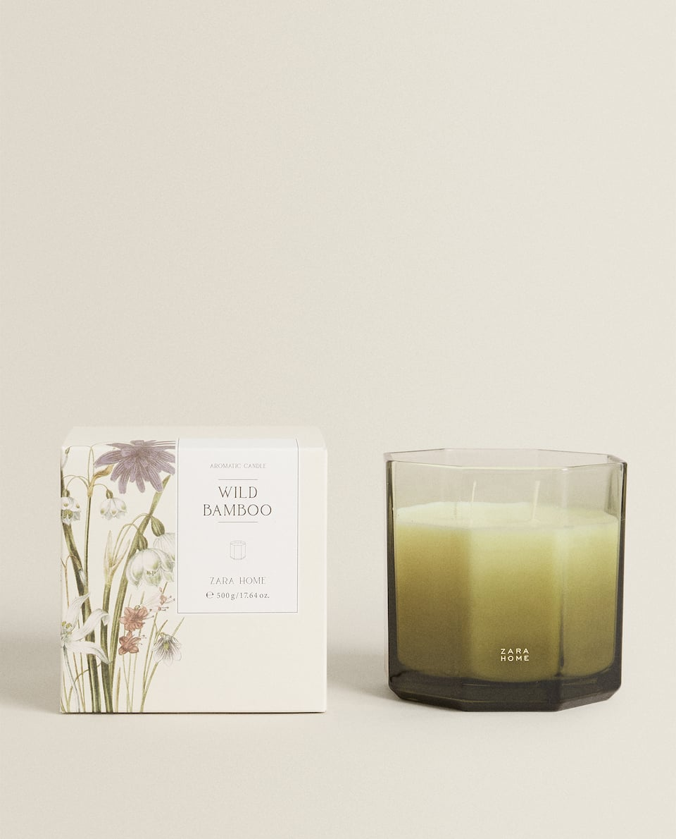 (500 G) WILD BAMBOO SCENTED CANDLE