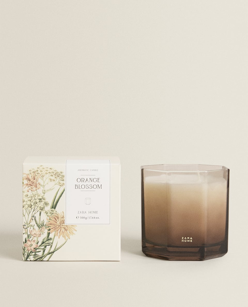 (500 G) ORANGE BLOSSOM SCENTED CANDLE