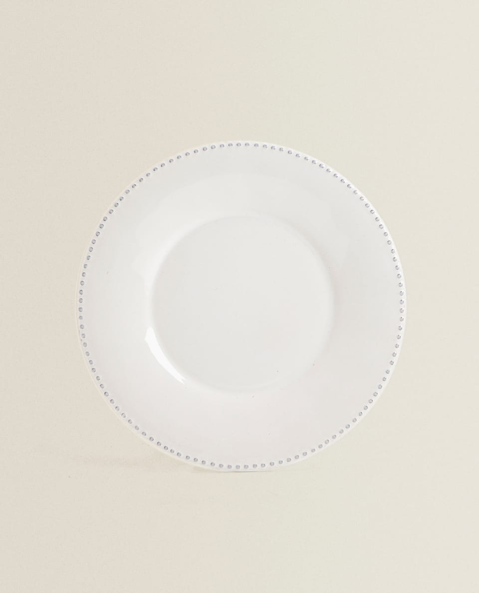 RAISED-EDGE DINNER PLATE