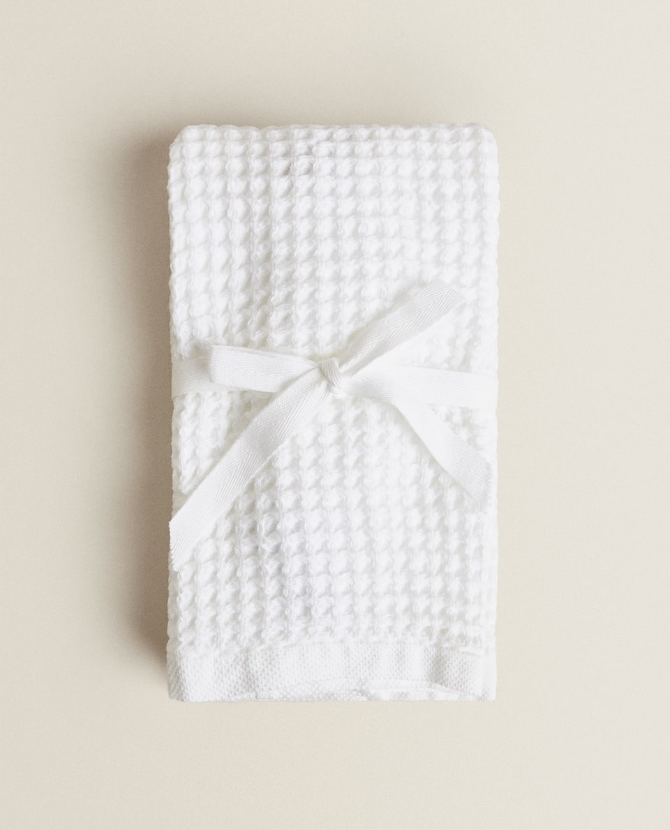 WAFFLE-KNIT TOWEL (PACK OF 2)