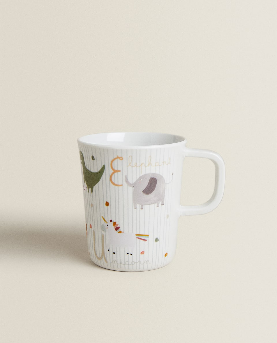 MUG WITH MELAMINE HANDLE WITH LETTERS