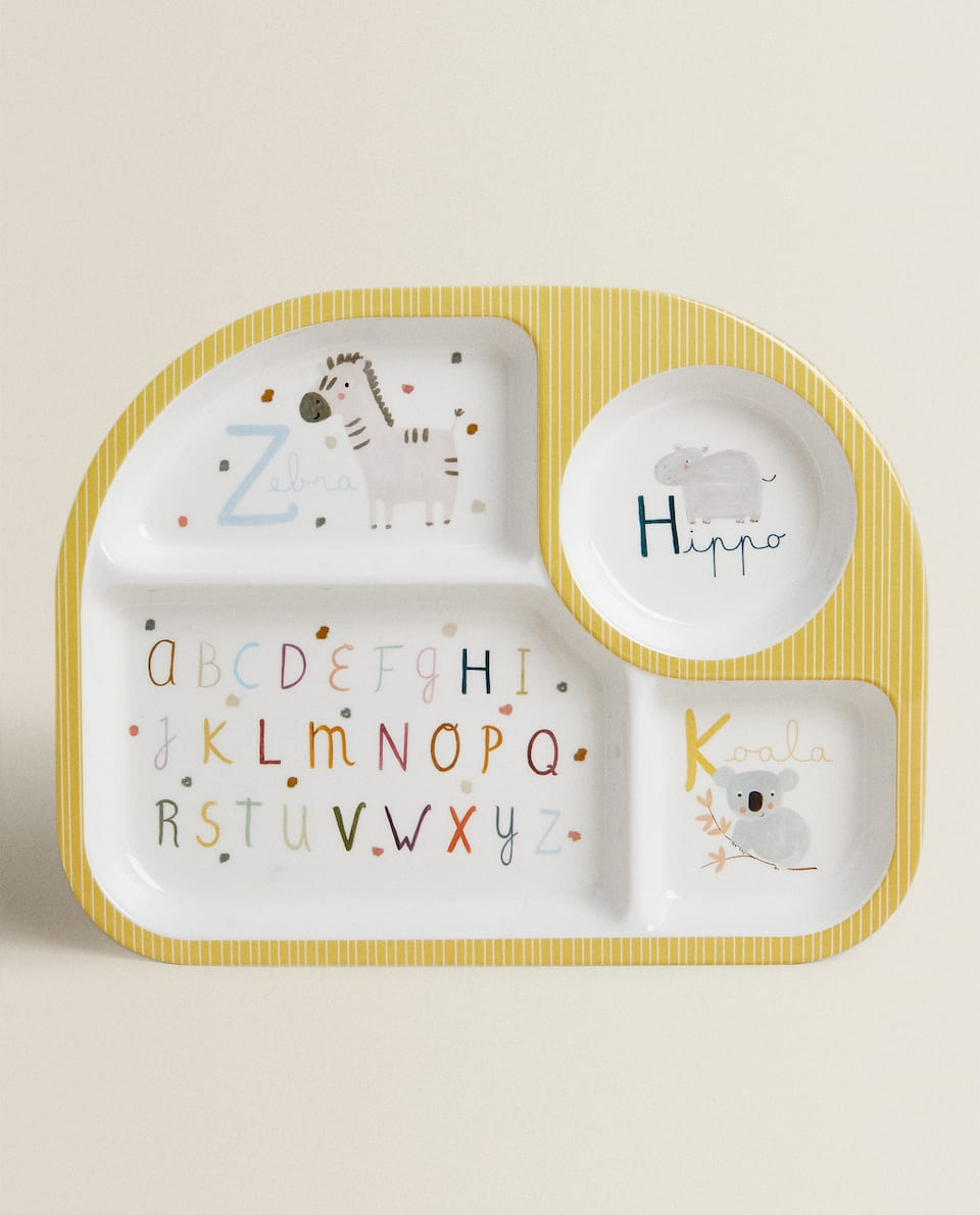 MELAMINE TRAY WITH LETTERS
