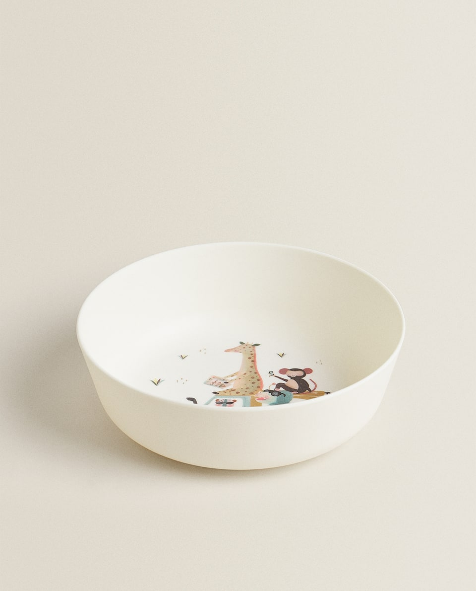 ANIMAL MELAMINE BOWL