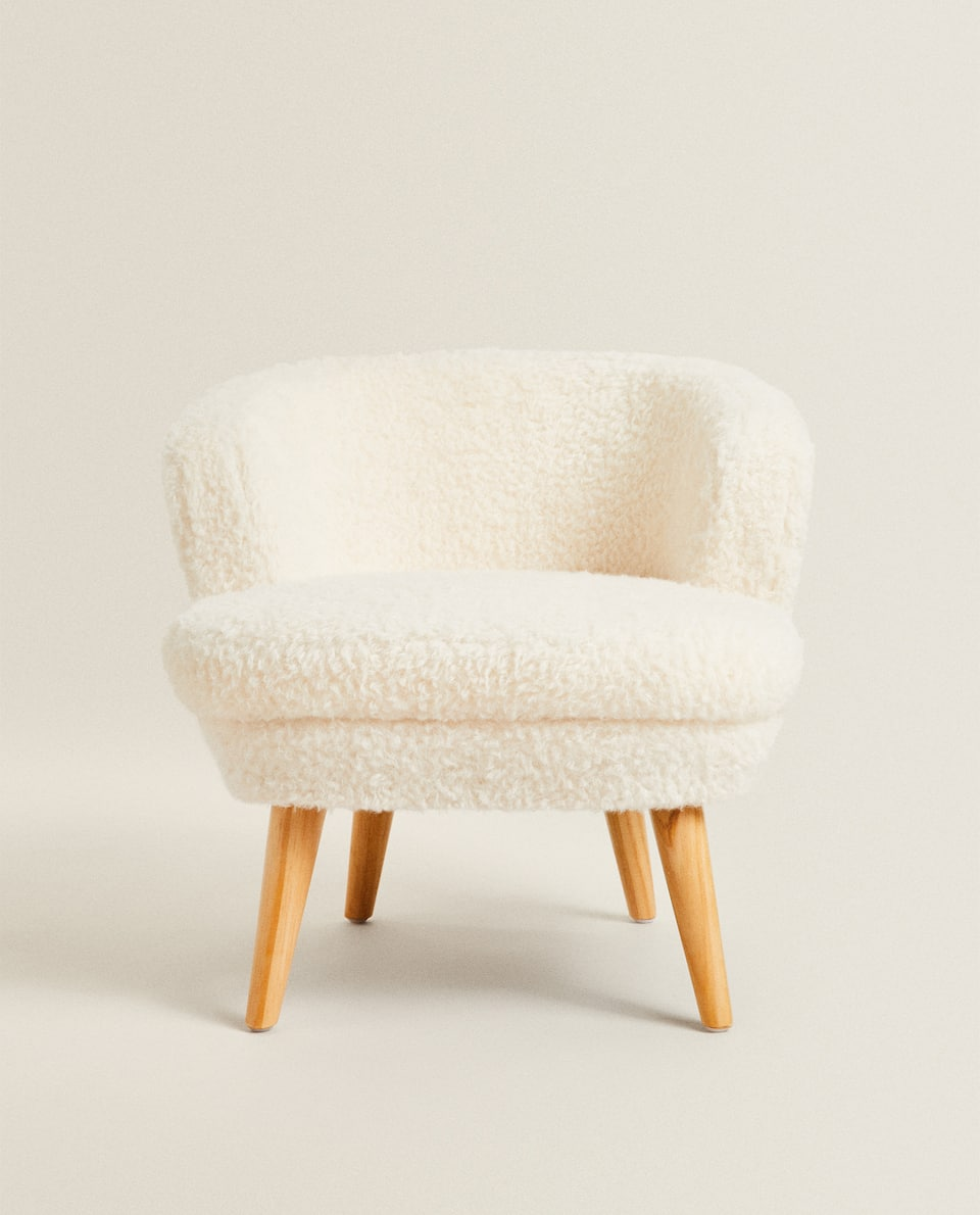 FAUX FUR KIDS ARMCHAIR
