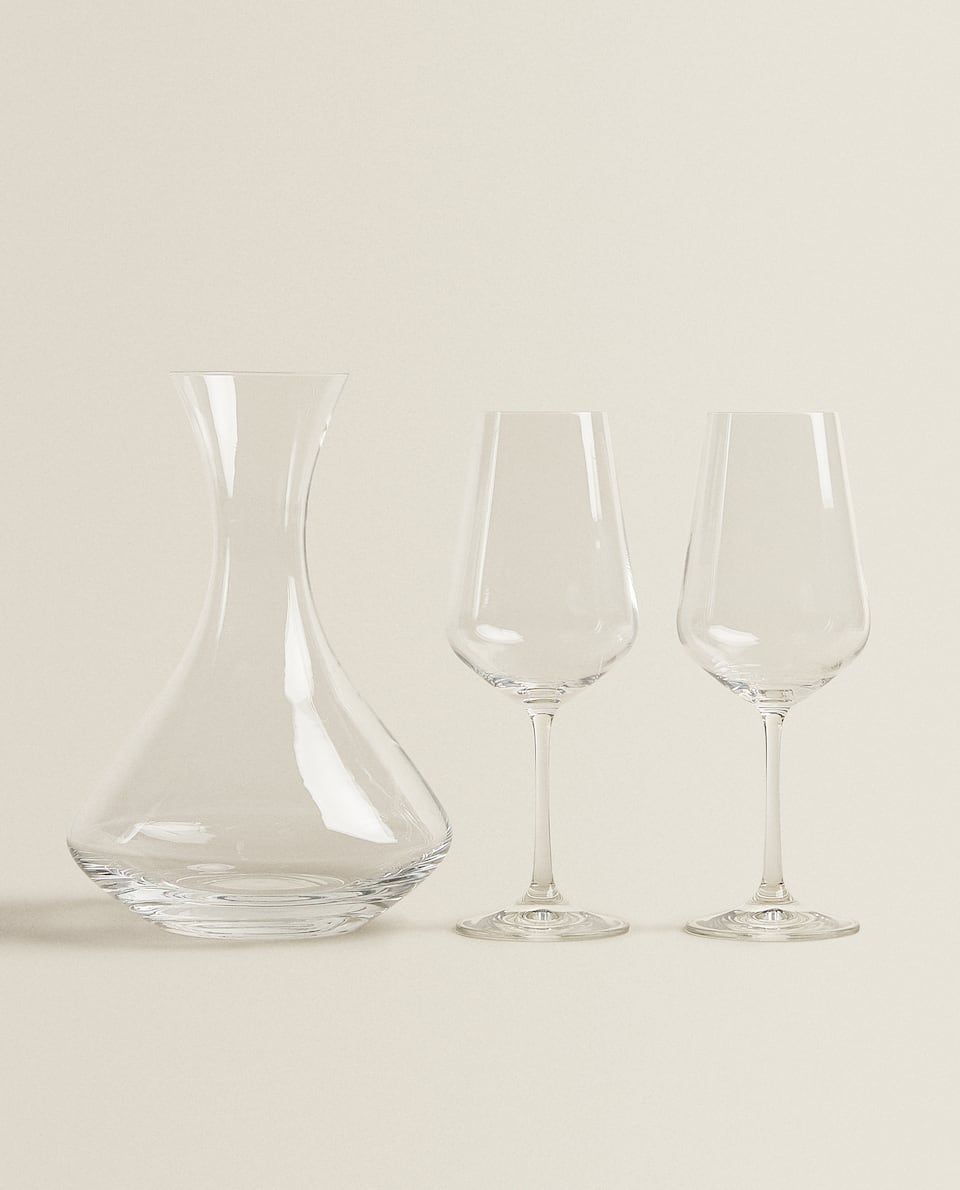 SET OF BOHEMIA CRYSTAL GLASSWARE