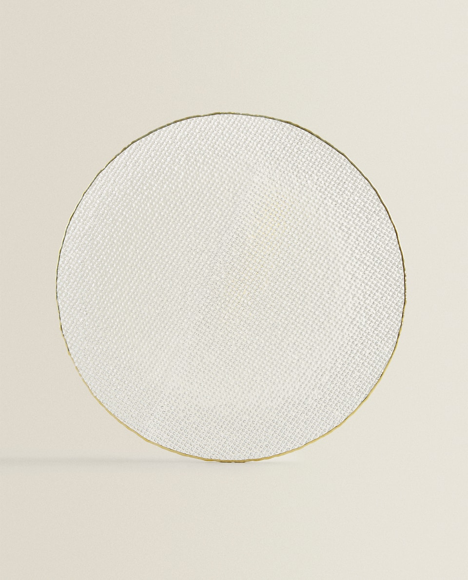 SERVICE PLATE WITH RAISED GOLD RIM