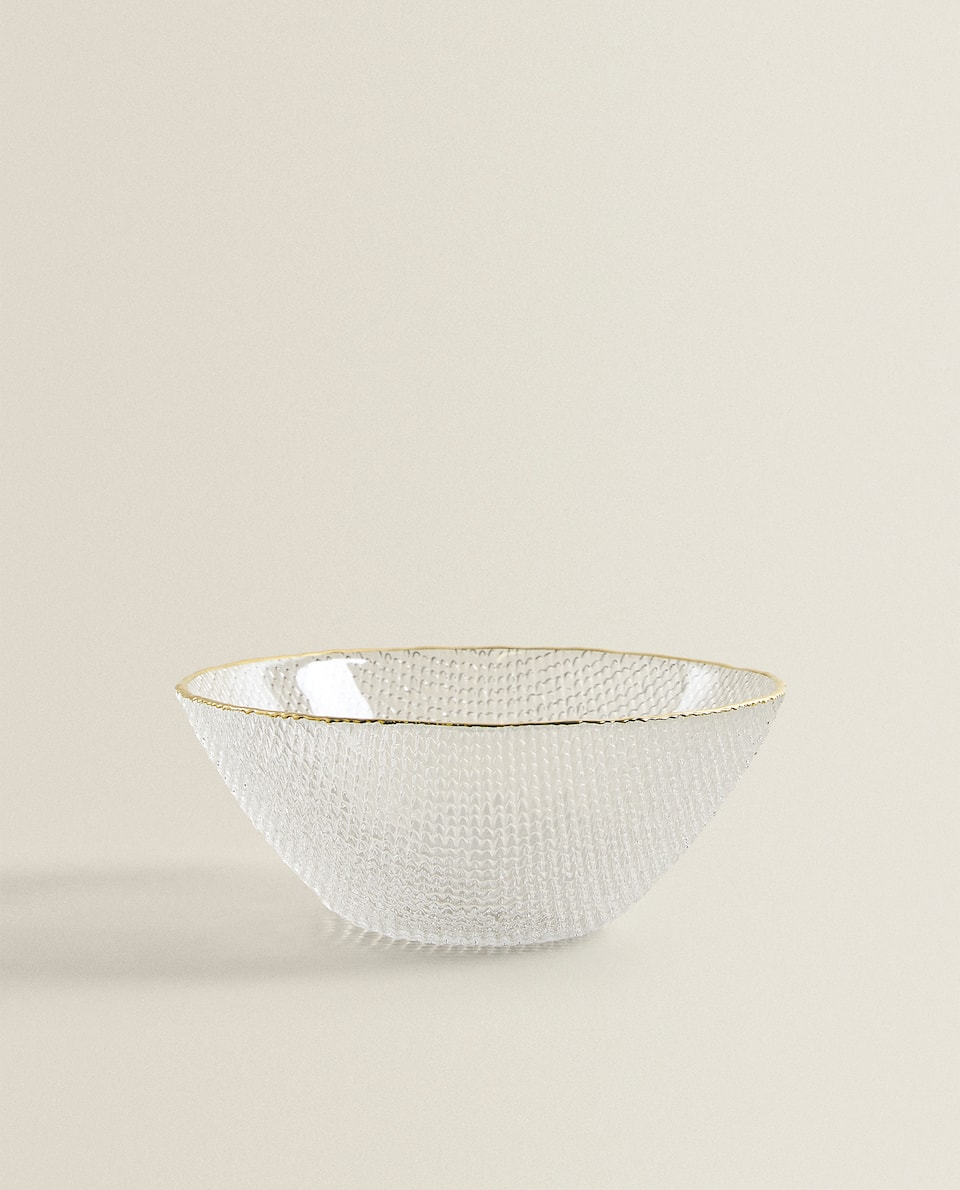 BOWL WITH RAISED GOLD RIM