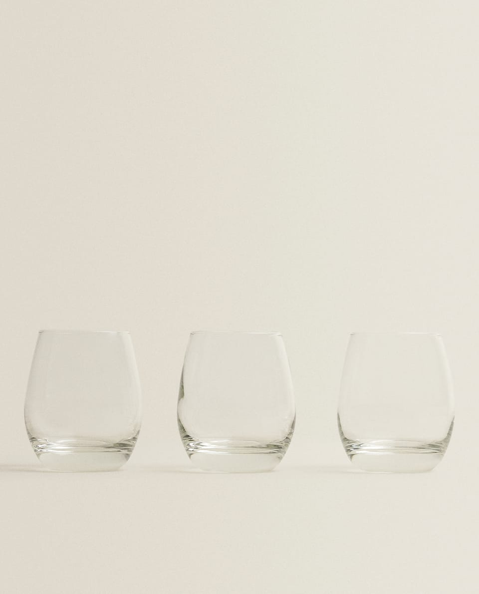 3-PACK OVAL GLASSES