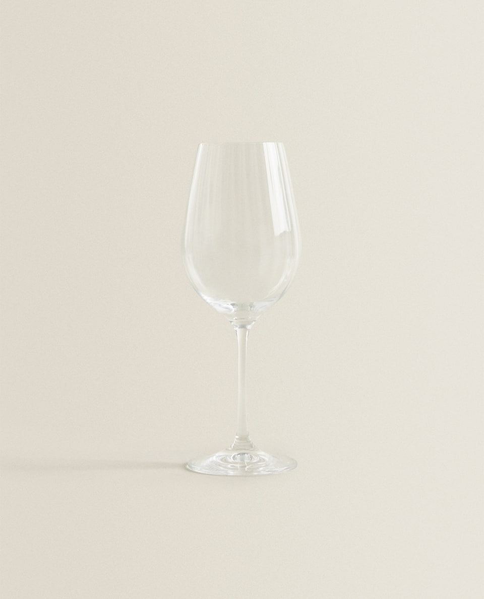 OPTICAL-DESIGN BOHEMIA CRYSTAL WINE GLASS