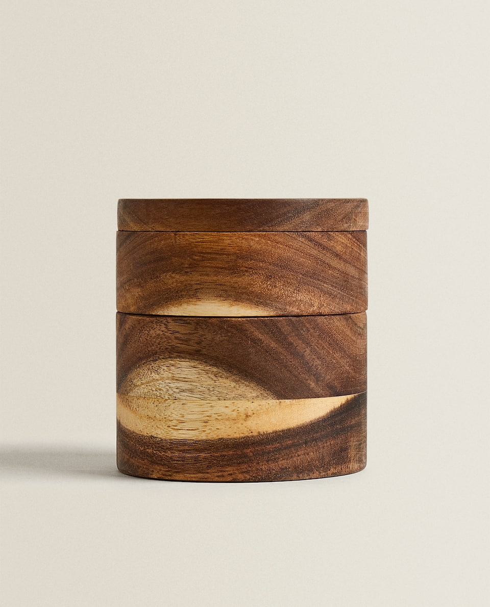 WOODEN DOUBLE SALT CELLAR