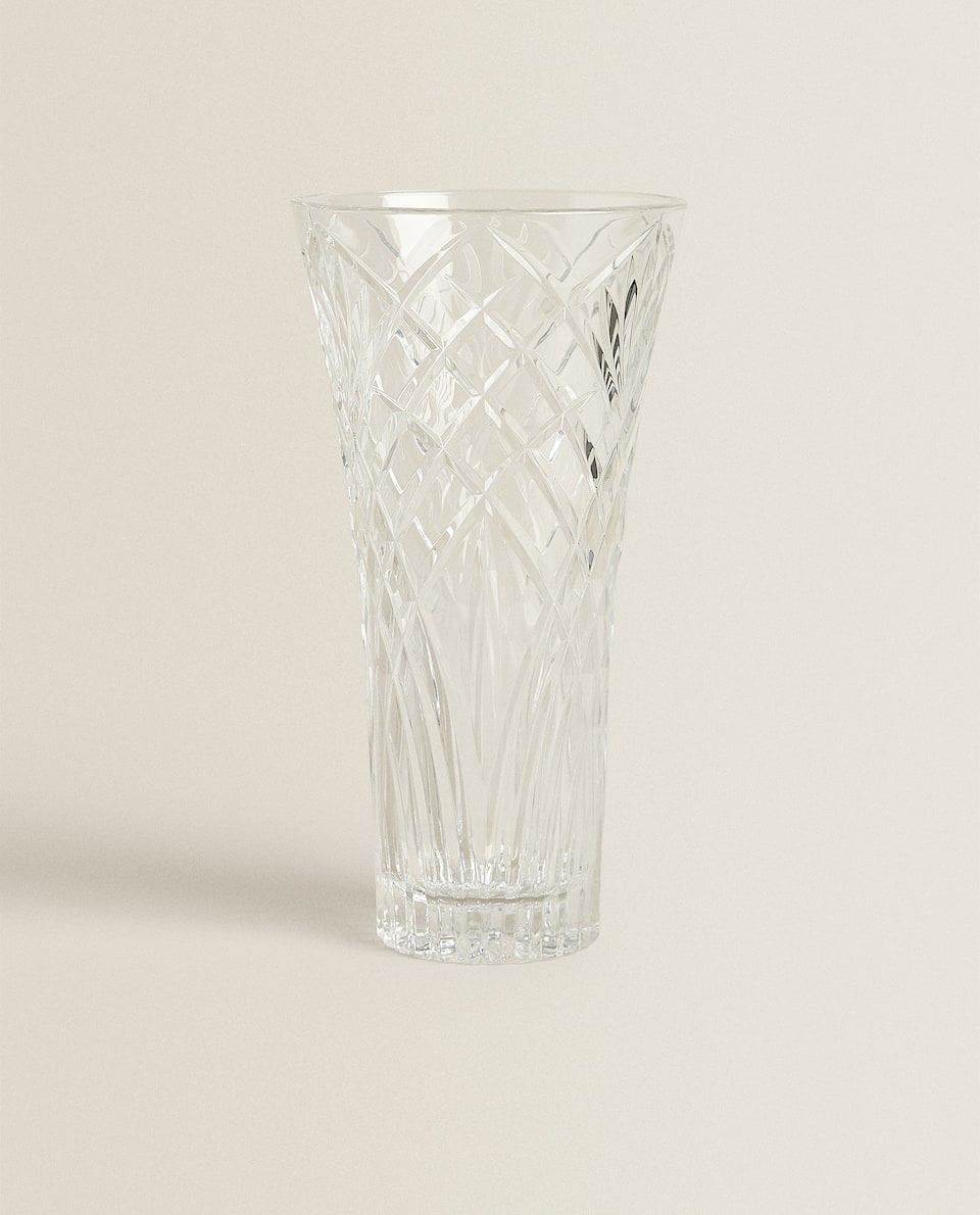 CUT EFFECT CRYSTALLINE GLASS JUG