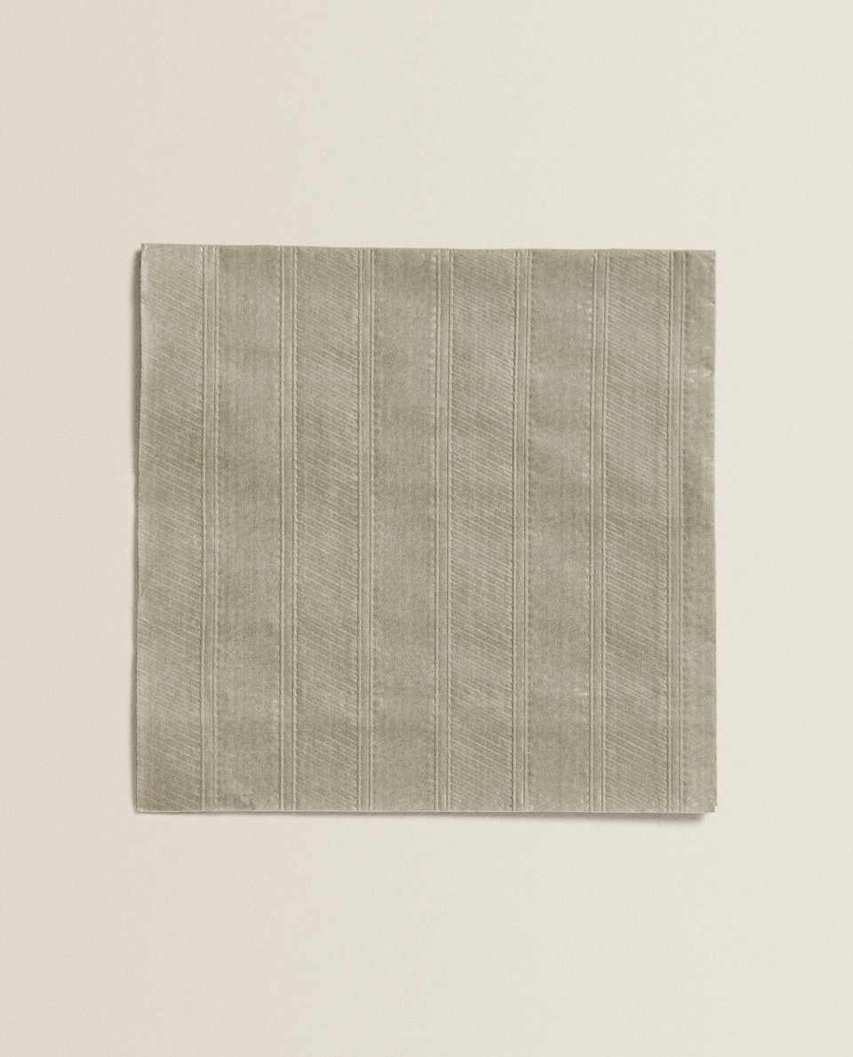 RAISED DESIGN PAPER NAPKIN (PACK OF 20)