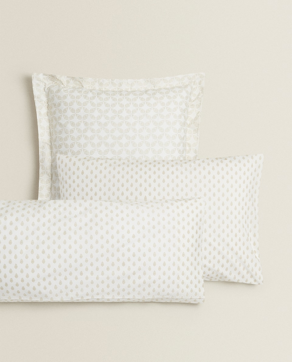 GOLDEN PRINT PILLOWCASE