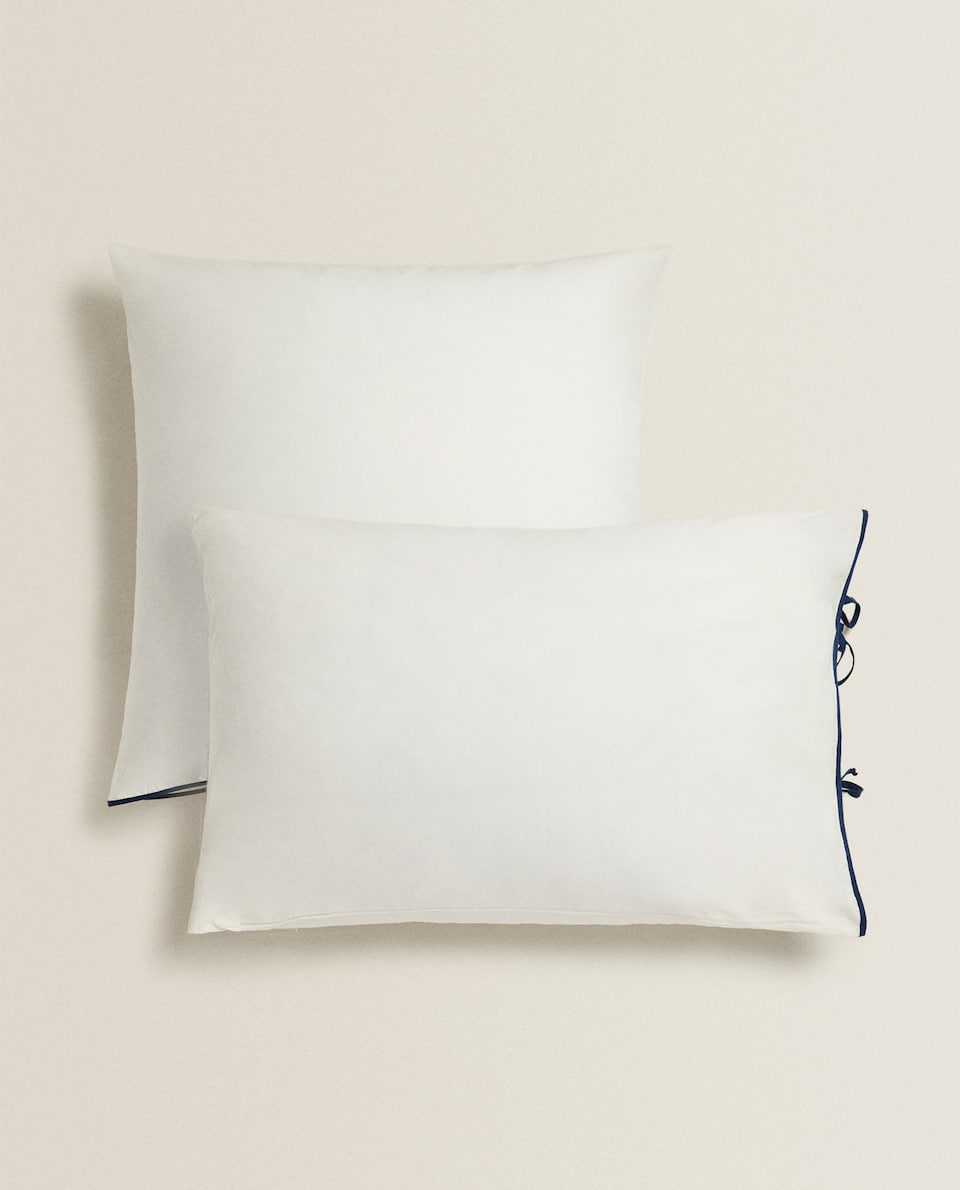 PILLOWCASE WITH CONTRAST TIES