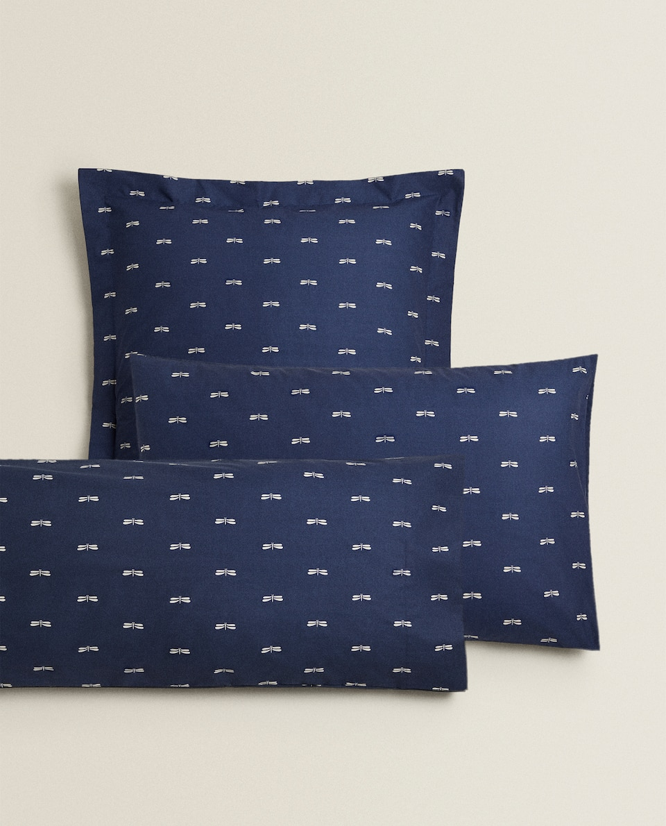 DRAGONFLY PRINT PILLOWCASE
