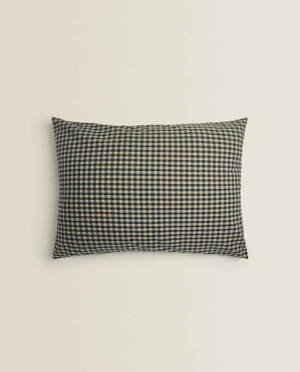 XXL GINGHAM CUSHION COVER
