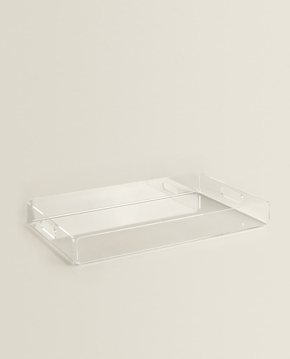 METHACRYLATE TRAY WITH HANDLES