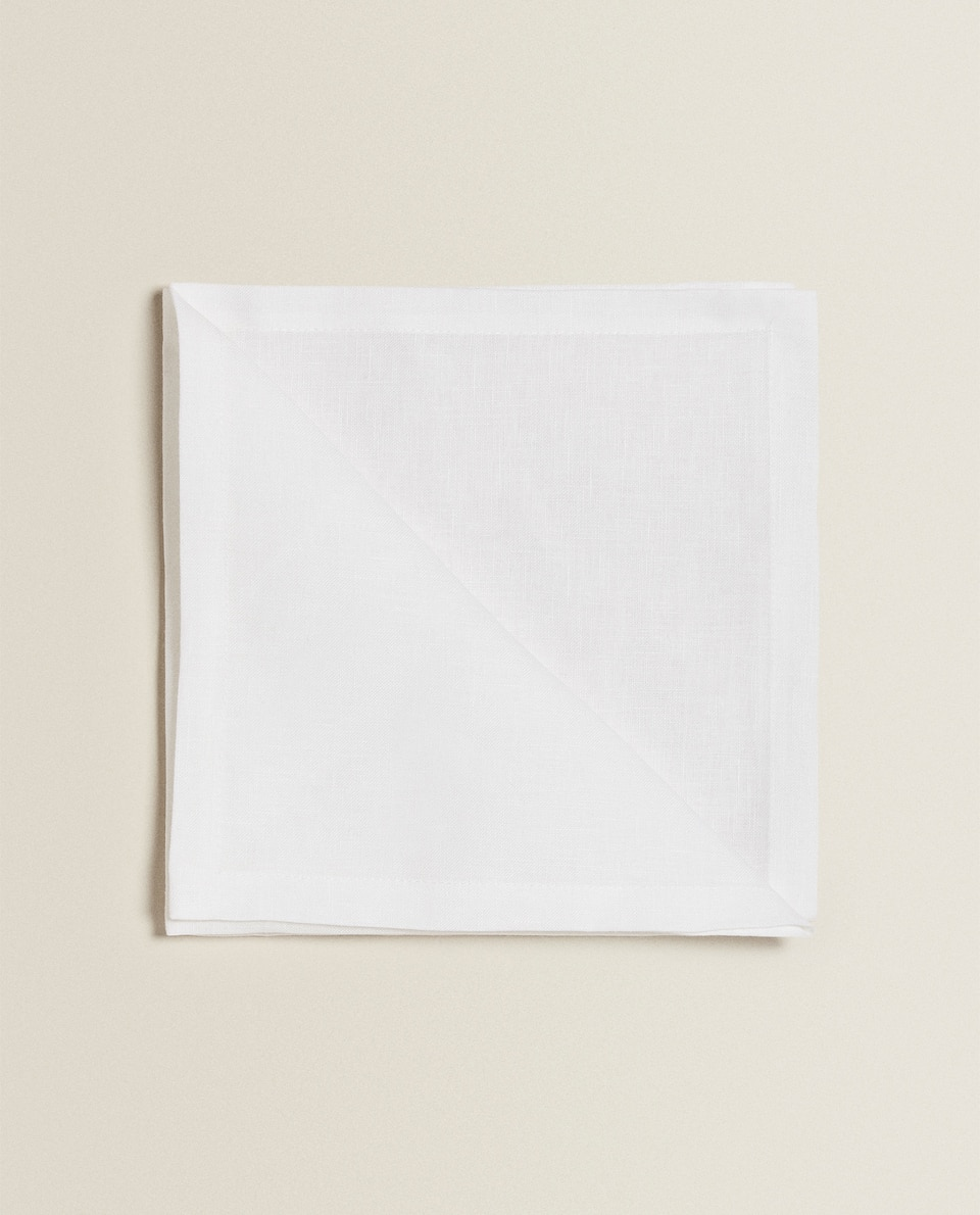 SERVIETTES DE TABLE LIN BASIQUE (LOT DE 4)