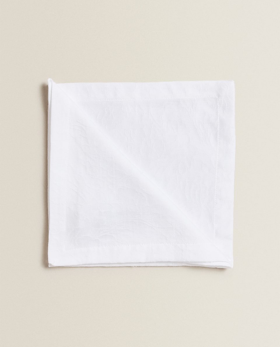 SERVIETTES DE TABLE COTON JACQUARD (LOT DE 4)