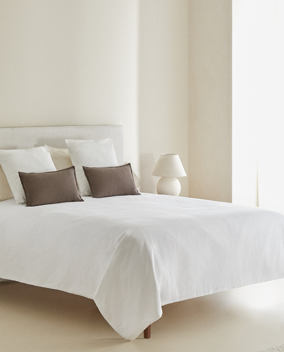 COMBINED PERCALE AND BEDSPREAD DUVET COVER