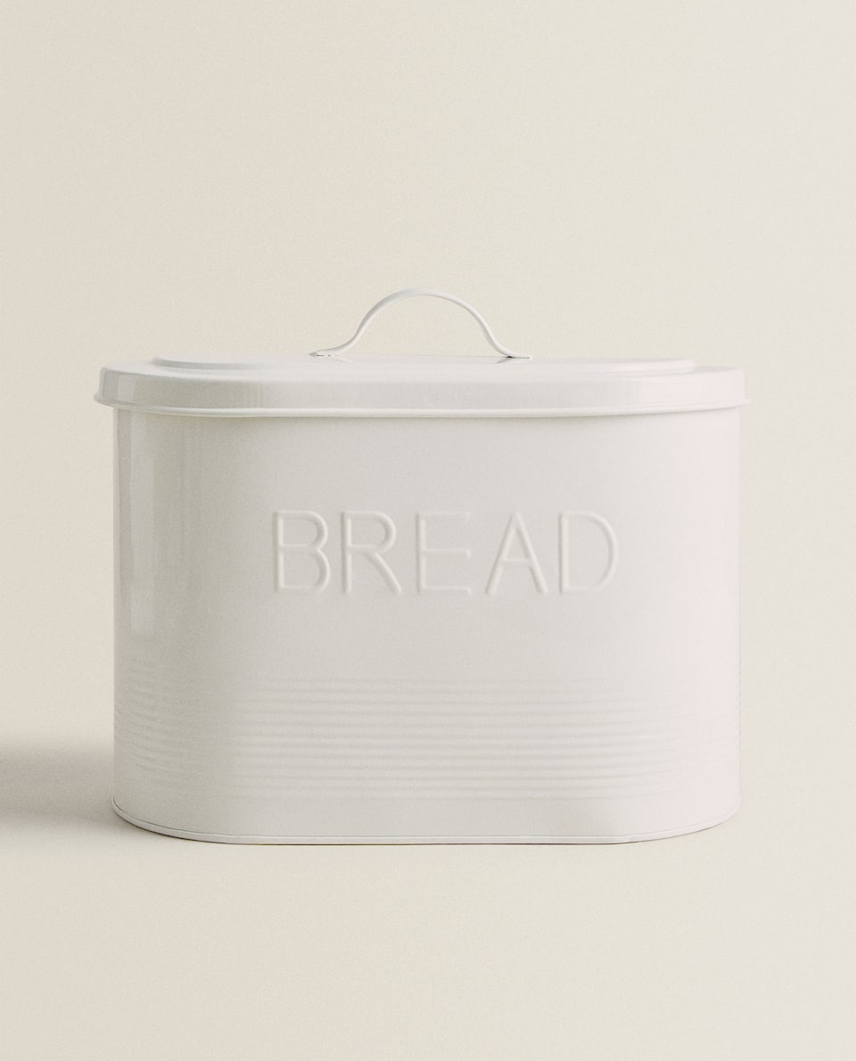 LACQUERED METAL BREAD TIN