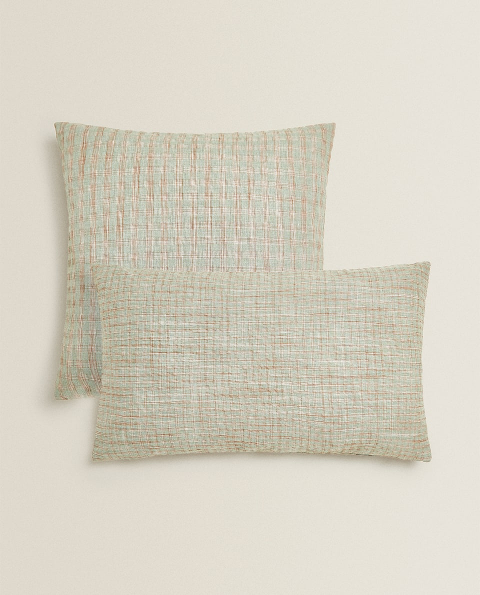 MULTICOLORED CHECK THROW PILLOW