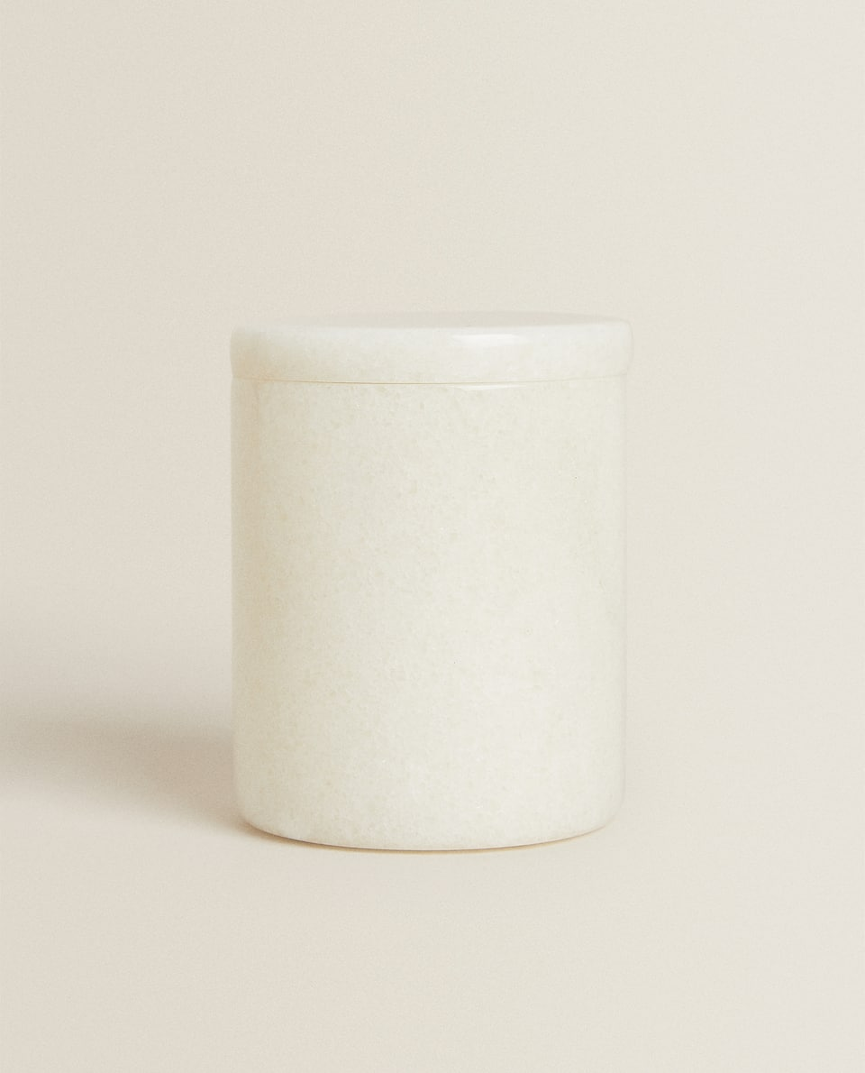 DECORATIVE WHITE MARBLE JAR