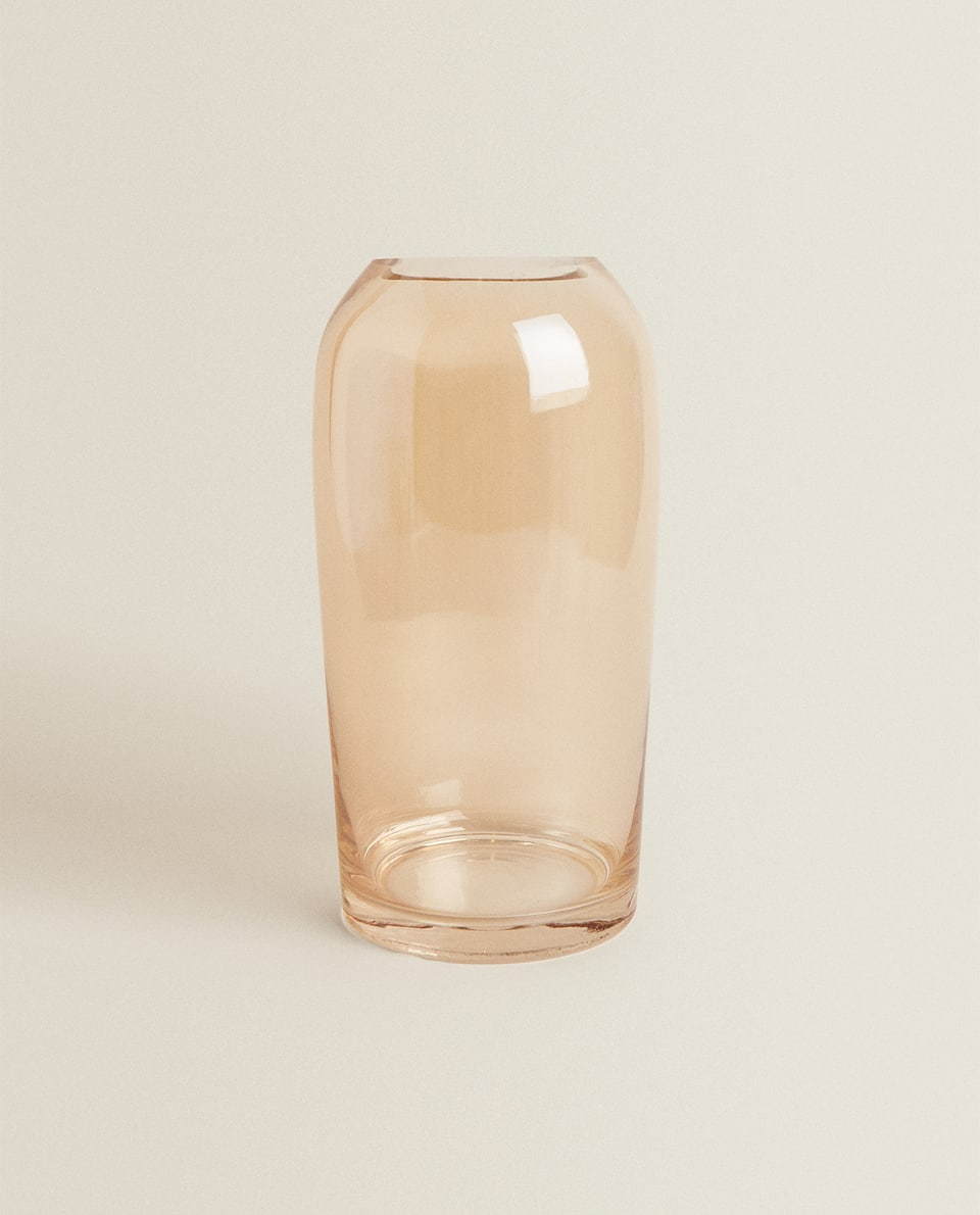 POLISHED-GLASS-EFFECT VASE