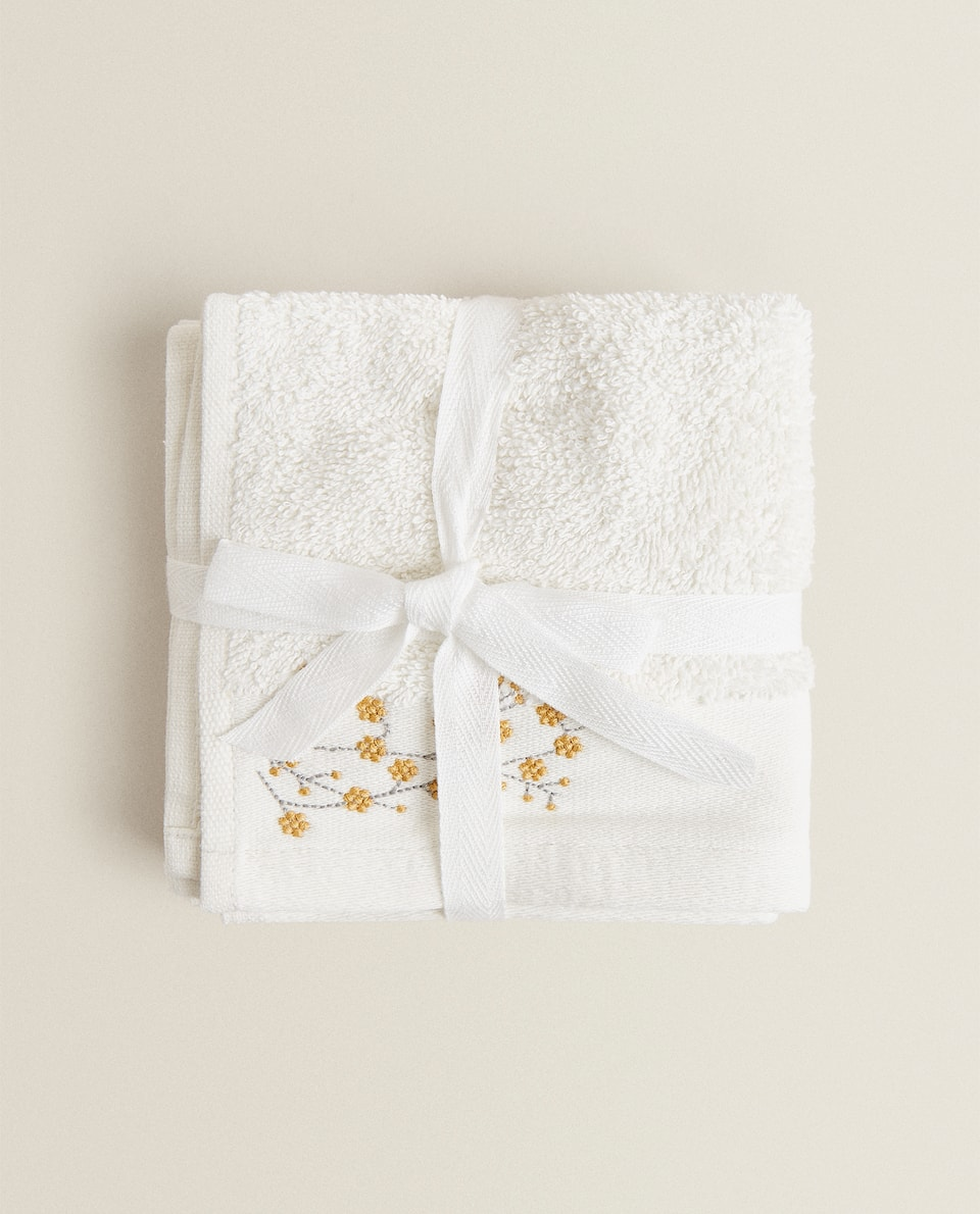 TOWEL WITH EMBROIDERY (PACK OF 3)