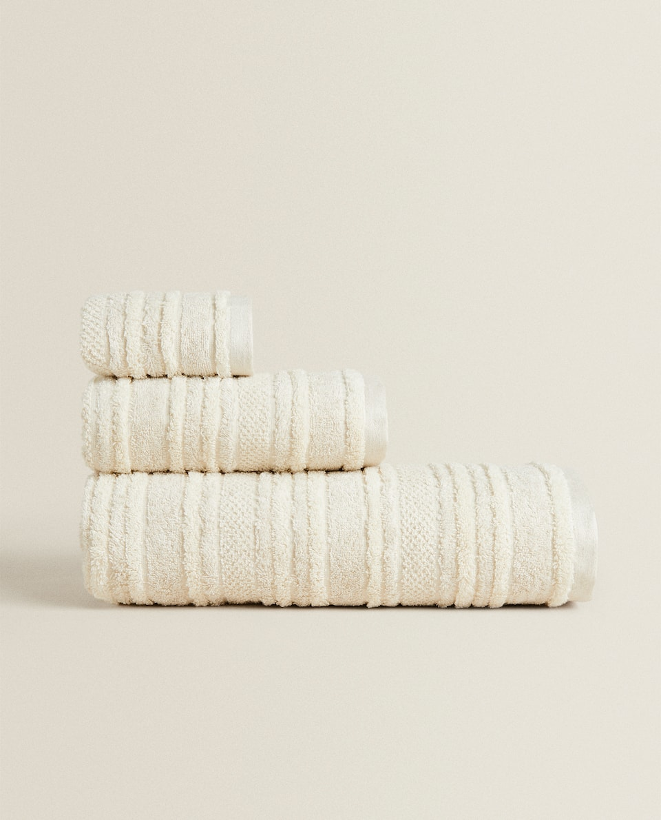 LINEN TEXTURED COTTON TOWEL