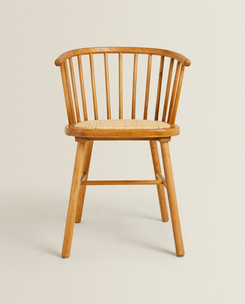 ASH WOOD CHAIR WITH RATTAN SEAT