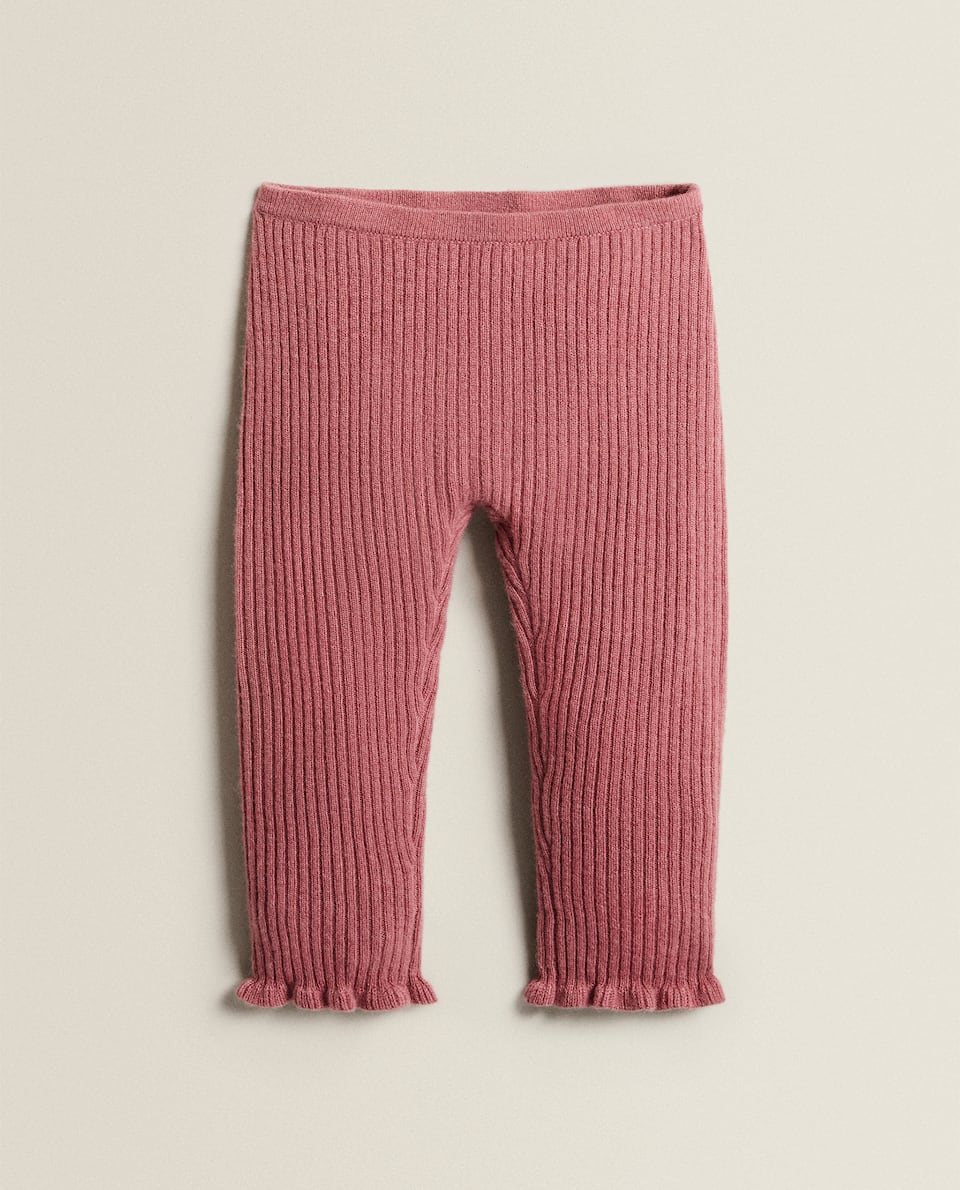 LEGGINGS CACHEMIRE MÉLANGÉ ROSE