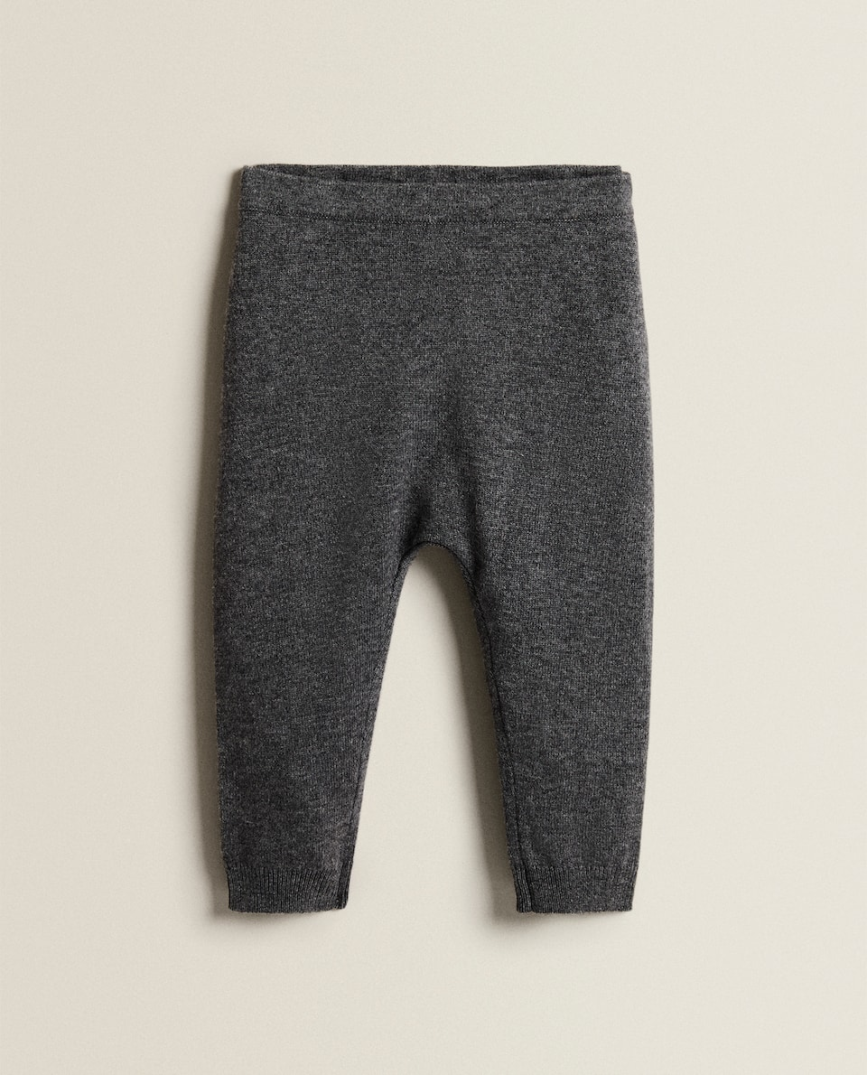 PLAIN CASHMERE BLEND TROUSERS