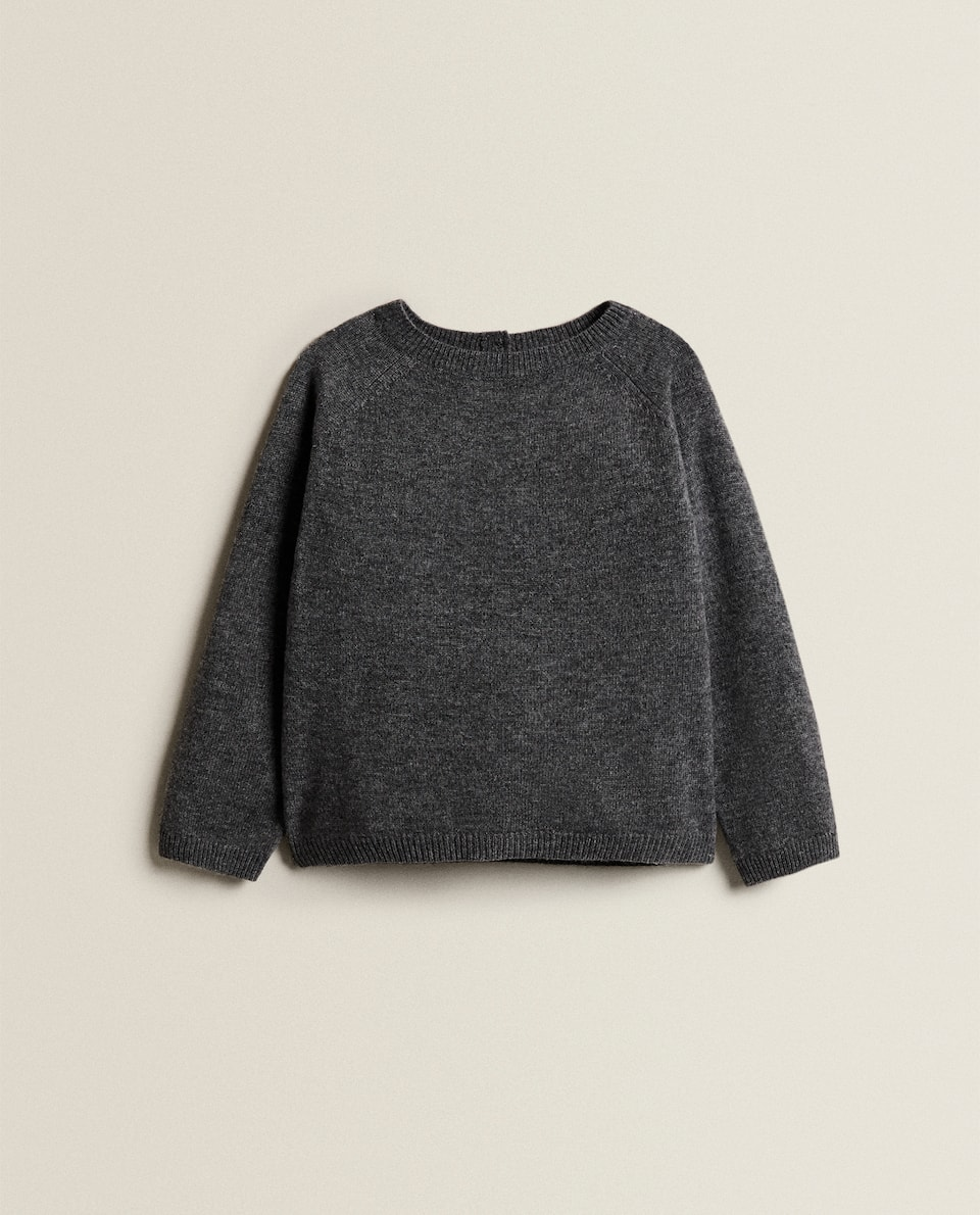 PLAIN CASHMERE BLEND SWEATER