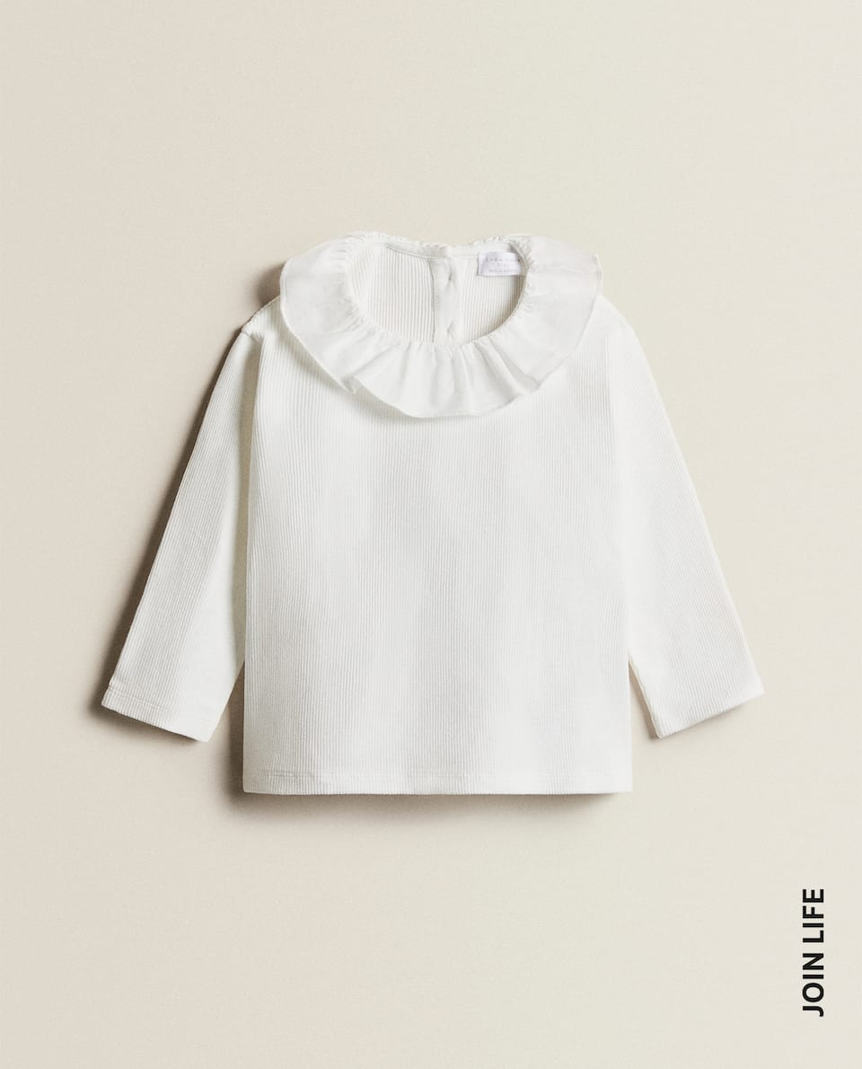 COTTON T-SHIRT WITH COLLAR