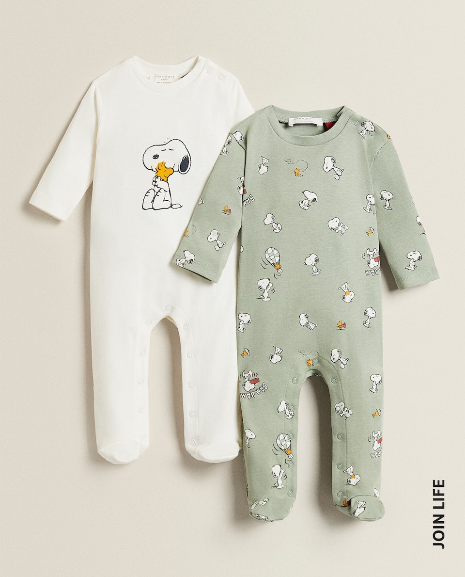 SNOOPY COTTON ROMPER SET